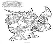 Printable skylanders Trap Team Wolfgang coloring pages