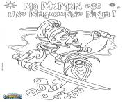 Printable skylanders ninjini coloring pages
