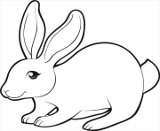 Printable easter cute bunny coloring pages