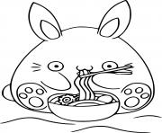 Printable easter bunny kawaii coloring pages