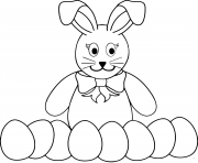 easter bunny with beaucoup eggs pour coloring pages