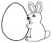 Printable easter bunny egg coloring pages