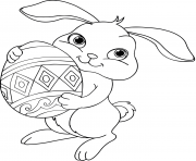 Printable easter bunny eggs coloring pages