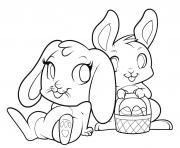 easter bunnies cute bunny coloring pages