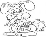 rabbit bunny special easter coloring pages