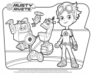 Rusty Rivets Robots coloring pages