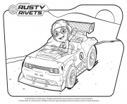 Printable Rusty Rivets dans la voiture coloring pages