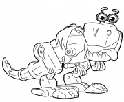 Cute Robot from Rusty Rivets Robot Dinosaur