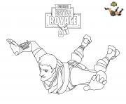 Printable Fortnite Skydiving coloring pages