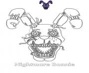 Printable Nightmare Bonnie FNAF coloring pages