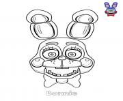 Bonnie Face FNAF coloring pages