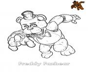 Printable Freddy Fazbear FNAF coloring pages