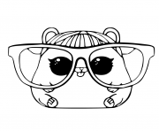 LOL Pet Coloring Page Cherry Hamster