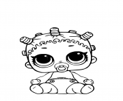 Printable Lil Roller Sk8ter Coloring Page LOL Doll coloring pages