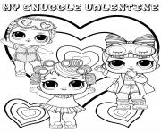 snuggle valentine lol dolls kids