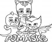 pj masks gekko owlette catboy logo coloring pages