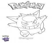 Printable Gengar Pokemon coloring pages