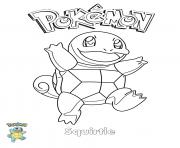 Squirtle Pokemon coloring pages