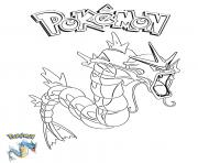 Printable Gyarados Pokemon coloring pages