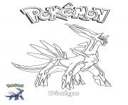 Printable Dialga Pokemon coloring pages