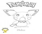 Printable Pichu Pokemon coloring pages