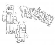 Printable minecraft pokemon coloring pages