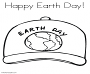Printable happy earth day coloring pages