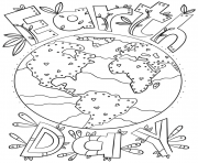 Printable earth day doodle adult coloring pages
