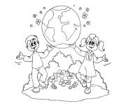 Printable earth day kids flowers nature coloring pages