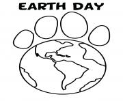 Printable gorgeous earth day world map coloring pages