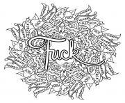 Printable fuck swear word coloring pages