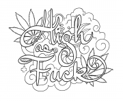 Printable high as fuck swear word coloring pages