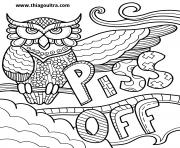 Printable piss off swear word coloring pages