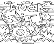 fuck it swear word coloring pages
