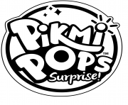 Pikmi Pops Logo to Color coloring pages