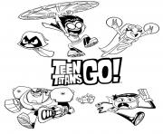 Printable teen titans go 2018 coloring pages
