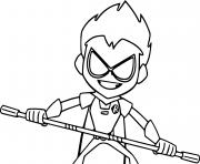 robin teen titans go try to defend himself