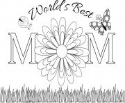 Printable worlds best mom mothers day coloring pages