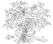 Printable mothers day flowers coloring pages