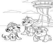 Printable PAW Patrol in Adventure Bay coloring pages