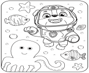 Printable PAW Patrol Rubble Underwater coloring pages
