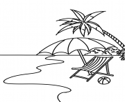 Printable summer beach scene coloring pages