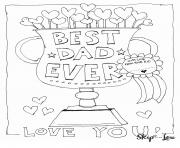 Printable best dad ever love you fathers day coloring pages