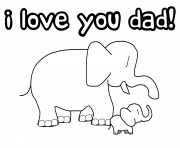 Printable i love you dad coloring pages