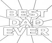 Printable Best Dad Ever Fathers Day coloring pages