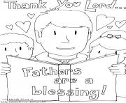 Printable thank you lord fathers are a blessing coloring pages