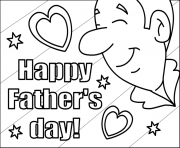 Printable Happy Fathers Day For Kids coloring pages