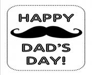 Printable fathers day whiskers coloring pages