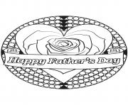 Printable mandala happy fathers day coloring pages