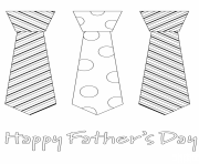 Printable fathers day tie necktie coloring pages